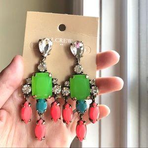 JCrew Neon Drop Earrings